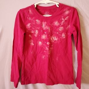 TWO Gently preloved Girls 4t long sleeved Red Tops